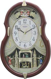Rhythm 4MH829WD06 Viola Entertainer Musical Motion Clock