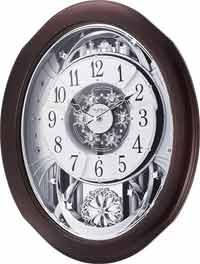 Rhythm 4MH869WU06 Anthology Espresso Magic Motion Clock