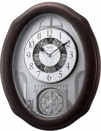 Rhythm 4MH895WU06 Glory Espresso Musical Motion Wall Clock