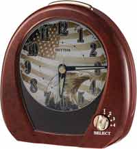 Rhythm 4RM760WU23 American Morning Melody Alarm Clock