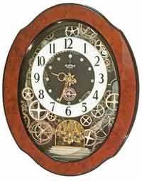 Rhythm 4MH432WU06 TimeCracker Gear Musical Clock