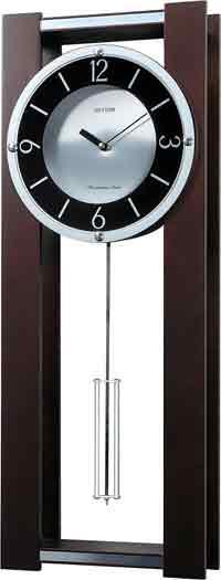 Rhythm CMJ541UR06 Contemporary Chiming Wall Clock