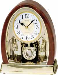 Rhythm 4RJ636WD23 Joyful Crystal Bells Musical Table Clock