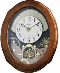 Rhythm 4MH419WU06 Joyful Timecracker Oak Musical Clock