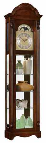 Ridgeway Clarksburg 2041 Quartz Curio Grandfather Clock