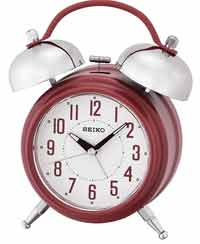 Seiko QHK051RLH Classic Bell Alarm Clock in Red