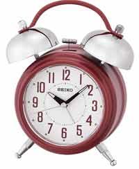 Seiko QHK051RLH Classic Bell Alarm Clock in Red