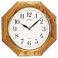 Seiko QXA102BC Quartz Oak Wall Clock