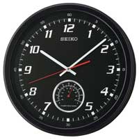Seiko QXA696KLH Thermometer Wall Clock