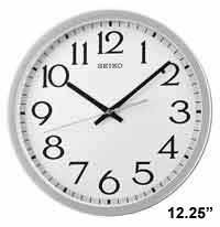 Seiko QXA711SLH Aluminum Wall Clock