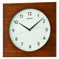Seiko QXA766ZLH Modern Square Wall Clock in Brown