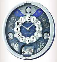 Seiko QXM379SRH Metallic Melody in Motion Wall Clock