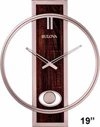 Bulova C4117 Phoenix Modern Large Wall Clock