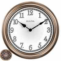 Bulova C4826 Light Time Illuminated Indoor-Outdoor Wall Clock