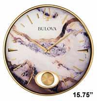 Bulova C4864 Stonemont Marble Wall Clock