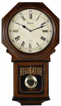 Bulova C3543 Ashford II Chiming Regulator Wall Clock