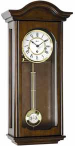 Hermle Brooke 70815-Q10341 Walnut Keywound Wall Clock