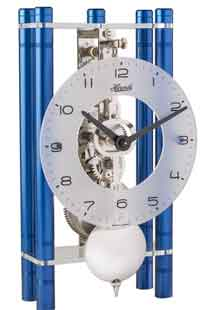 Hermle Mikal BL 23021-Q70721 Blue Keywound Table Clock