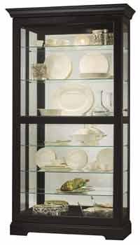 Howard Miller Tyler II 680-538 Black Curio Cabinet