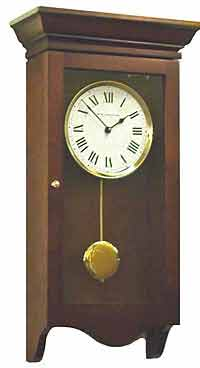 New England 864 Chiming Cherry Quartz Wall Clock