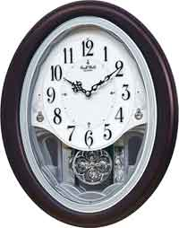Rhythm 4MJ439WU06 Crystal Delight Musical Clock