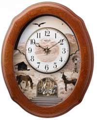 Rhythm 4MH418WU06 American Prairie Musical Clock