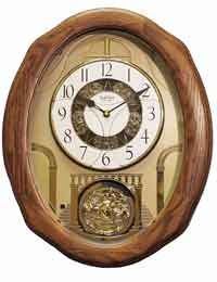 Rhythm 4MH897WU06 Joyful Glory Music in Motion Clock