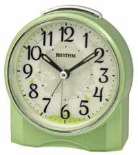 "Rhythm ""Green Tree"" Quiet Sweep Alarm Clock"