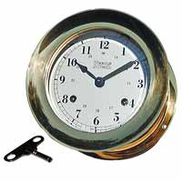 Weems and Plath 200200 Atlantis Keywound Ships Bell Clock