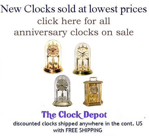 Anniversary Clock Now On Sale