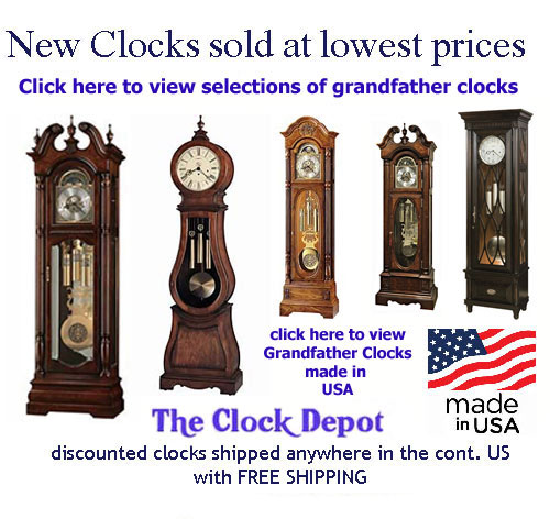 click here for all Quartz Grandfather Clocks on sale