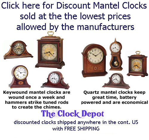 Click to view all Quartz Mantel Clocks now on sale