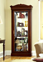traditional curio cabinets