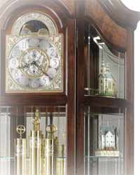 Curio Grandfather Clocks with Shelves for collectables