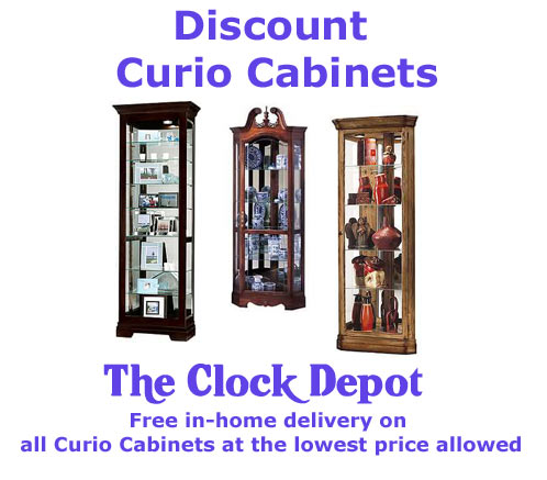 Click to see all Curio Cabinets Now On Sale
