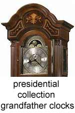 click here for Howard Miller Presidential and Ambassador Collection Grandfather Clocks