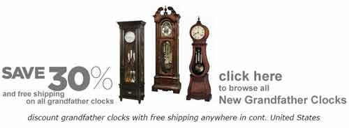 30% off all Grandfather Clocks