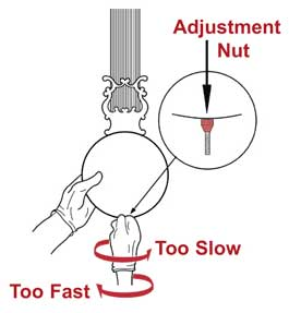 time setting nut