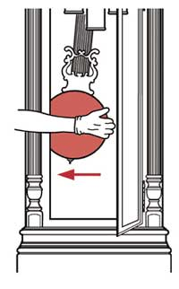Pull the pendulum to the far left and release