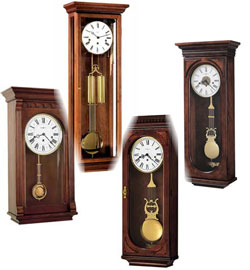 key wound wood wall clocks
