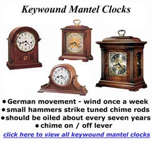 Mantel Clocks Keywound