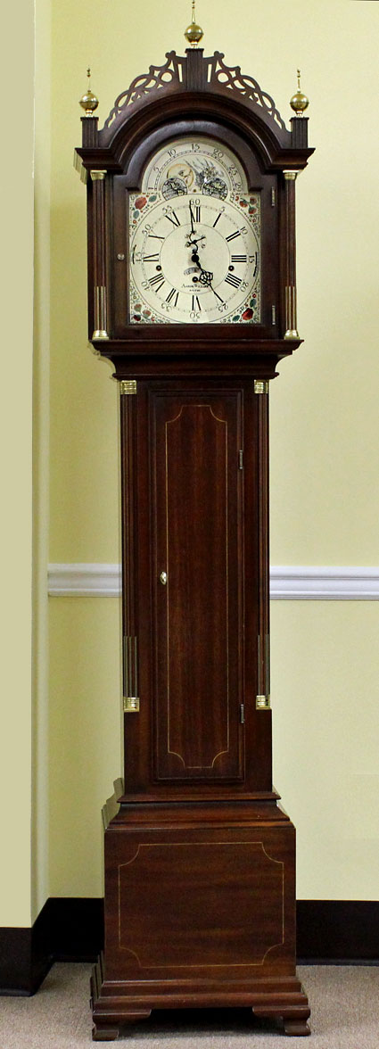 Pre Owned Sligh Aaron Willard Grandfather Clock The
