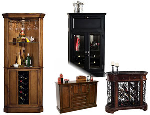 Wine Cabinets and Wine Storage at lowest prices from The Clock Depot