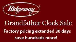 Ridgeway Grandfather Clocks Clocks on Sale